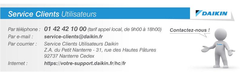Service Clients Utilisateurs Daikin